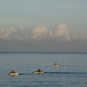 Fiskebåter av isopor. Foto: Birte H. Runde