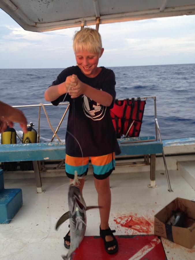 fisketur ved Cayo Levisa